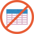 No Spreadsheets
