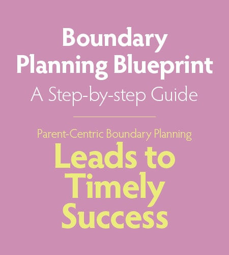 GK12 Boundary Planning Blueprint: Parent-Centric Boundary Planning Leads to Timely Success